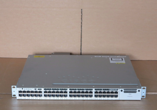 Cisco Catalyst 3850 WS-C3850-48F-S 48-Port Gigabit Layer 3 Stackable PoE+ Switch